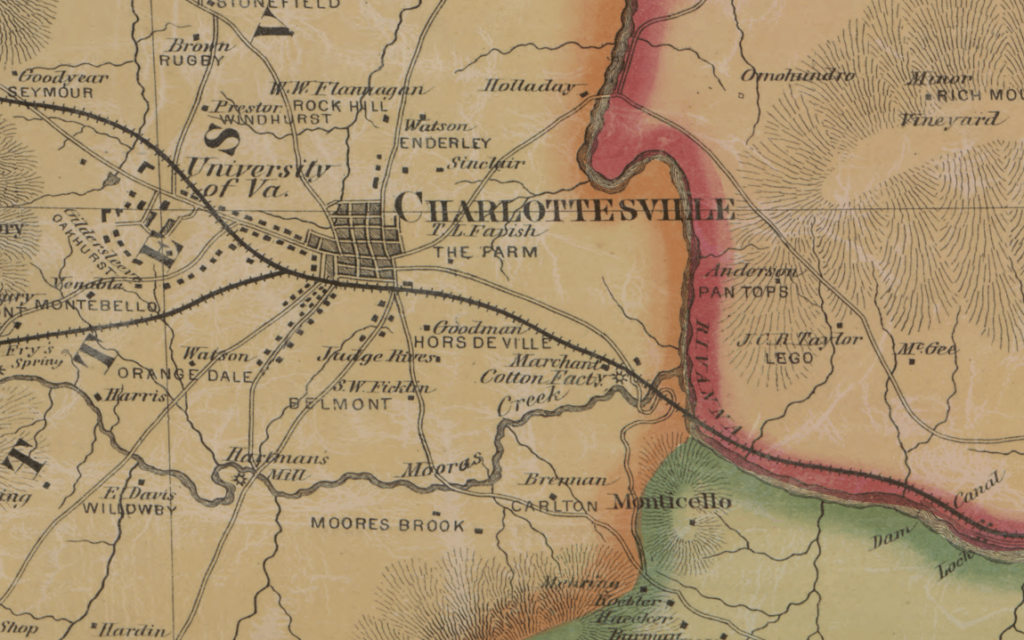 Peyton map of Charlottesville
